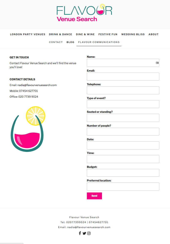 Flavour Venue Search